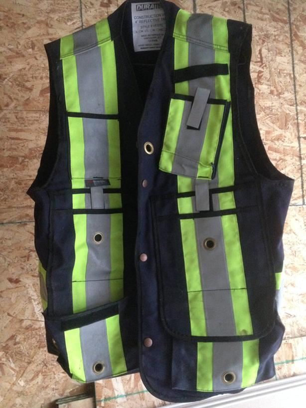 "Construction vest 4"" reflective tape new"
