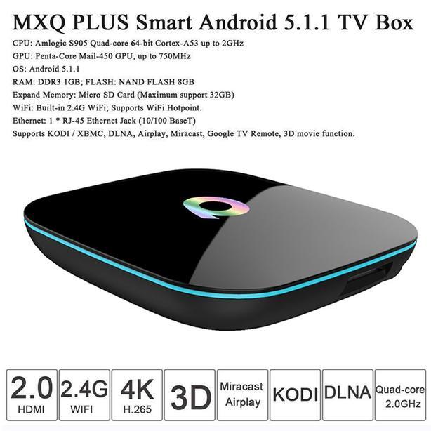 Q-Box QTT Android Streaming TV Box and Mini Wireless