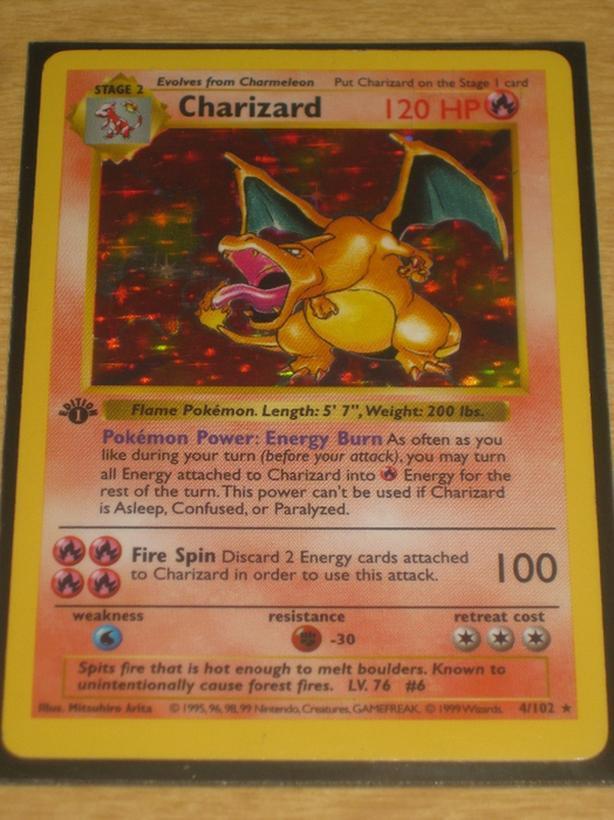 $500 · WANTED: Charizard Pokemon Card, 1st Edition