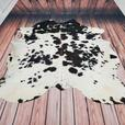 Black And White Cowhide Rug Brazilian Hair On Cow Hide Upholstery