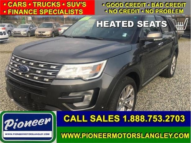 2017 Ford Explorer Limited  - Navigation -  Cooled Seats - $286.63 B/W