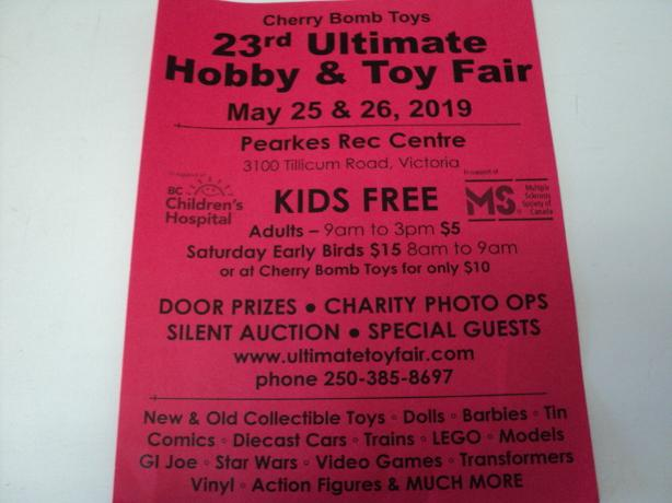 Hobby & Toy Fair in VICTORIA Sat/Sun May 25 & 26 2019 KIDS FREE
