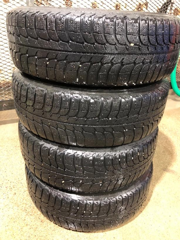 MICHELIN X-ICE WINTER TIRES AND RIMS 185/65R15