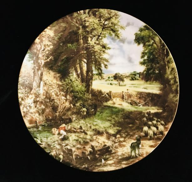The Cornfield. Decorative Plate: (In the National Gallery of London).