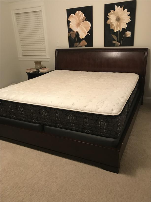 King Size Bed Frame Mattress Saanich Victoria