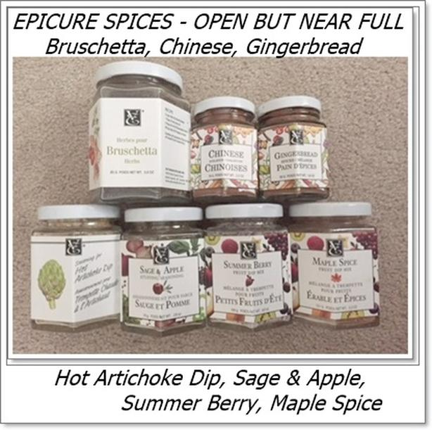 Epicure Spices (open - near full) $25 for all or $4 each