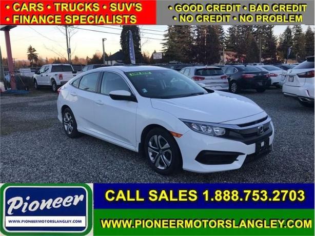 2018 Honda Civic Sedan LX CVT  - Bluetooth -  Premium Audio - $146.56 B/W