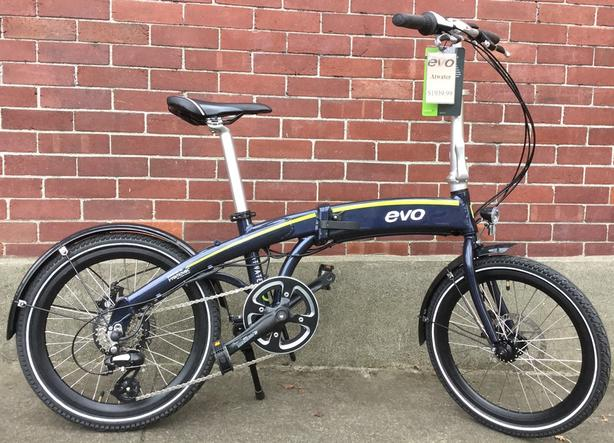 Evo Atwater folding bike w/electric assist