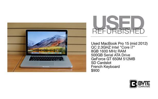 Used MacBook Pro 15 (mid 2012) Esquimalt & View Royal, Victoria