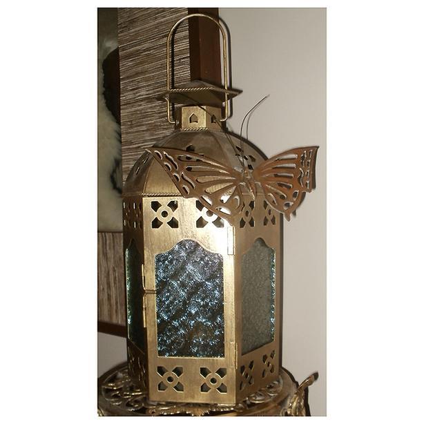 Partylite Metal & Glass Candle Lantern