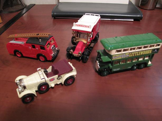 Set of Four, Collectible DieCast Miniature British Vehicles