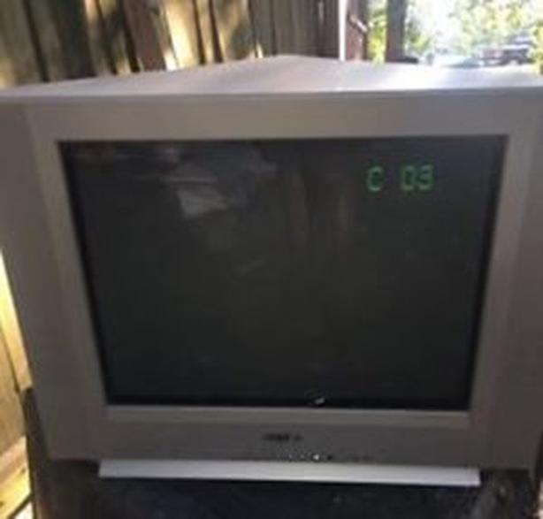 """FREE: 3 TVs - 38"""" Sony Trinitron, 32"""" HDTV Sanyo, & 20"""" bedroom TV"""