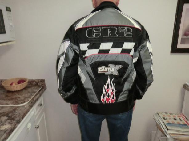 Snowmobile racing jacket $20.00.