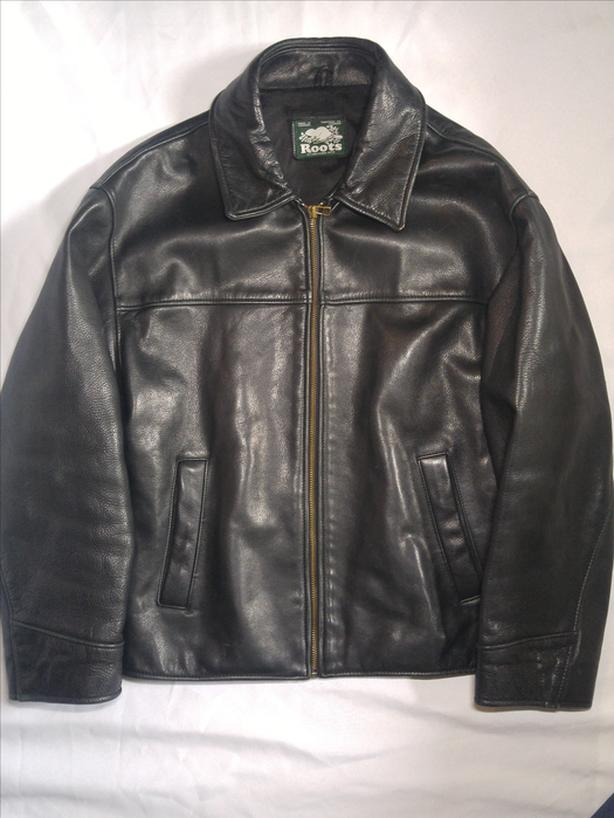 Roots Leather Jacket Men's Small