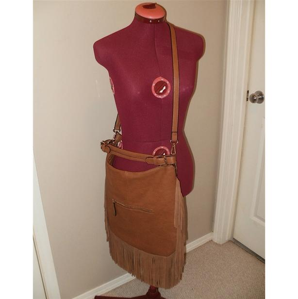 Moda Luxe Fringed 3-in-1 Purse: handbag, shoulder, cross-body