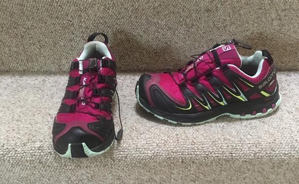 Salomon XA Pro 3D Mountain Trail Running Shoes - Womens Size 6US 37.5 EUR