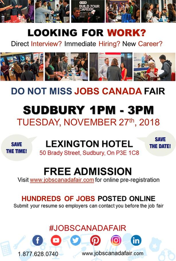 Sudbury Job Fair - November 27, 2018