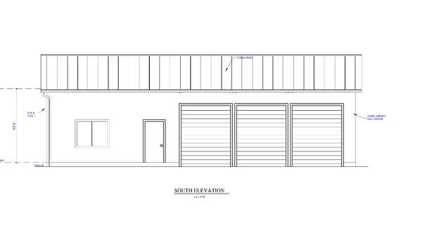 3 Bay Shop with Apartment plans, drafting, cad, blueprints ...