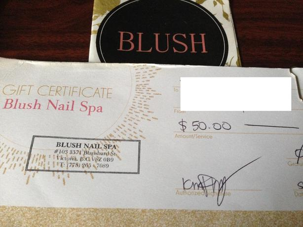 for $30 BLISS Nail Spa Gift Certificate