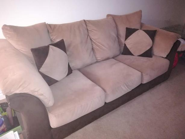 Comfy 3 Seater Sofa In Good Condition Bought It For Over 1000