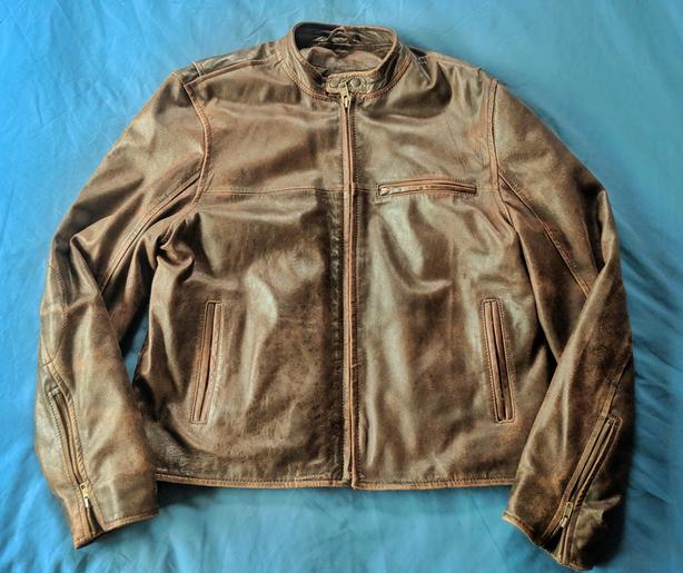 Aeropostale Biker Cafe Racer Leather Jacket XL