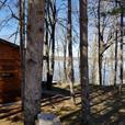 Custom built WATERFRONT open concept log home