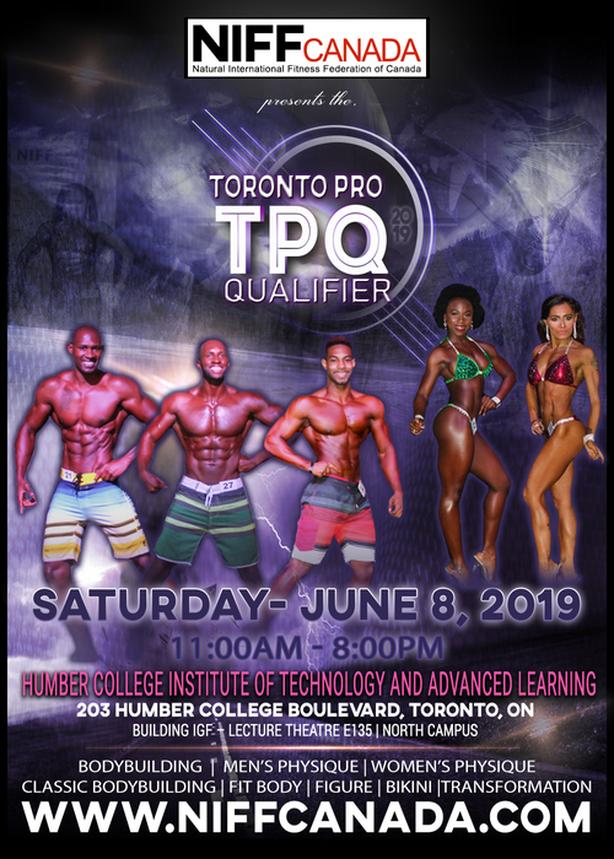 NIFF Canada Toronto Bodybuilding/Fitness Pro qualifier 2019