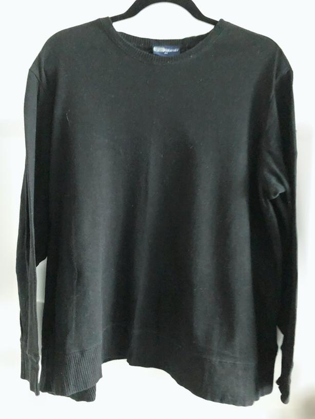 Black Long Sleeve Maternity Sweater, Size 2X