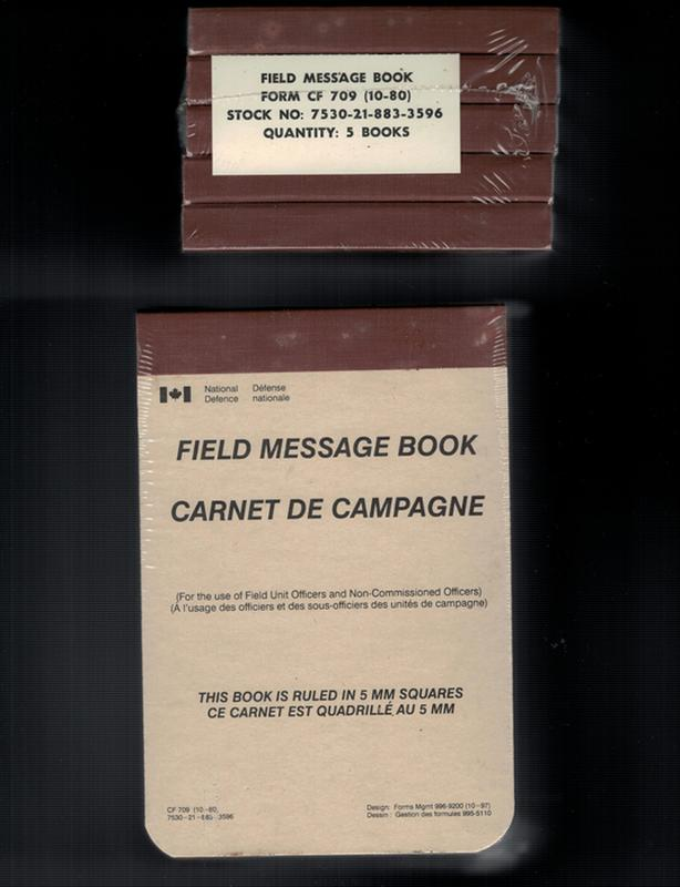 Canadian Forces CF 709 Field Message Book