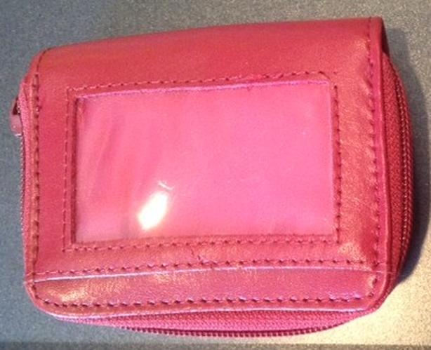 Leather Red Credit Card Holder Wallet