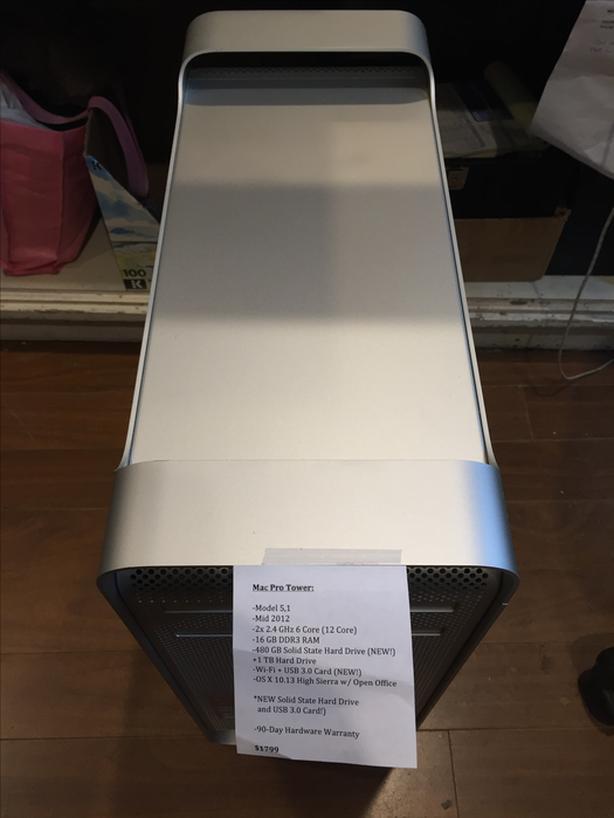 SALE! Mac Pro Tower 12Core 64GB RAM 480GB SSD + 1TB HD USB
