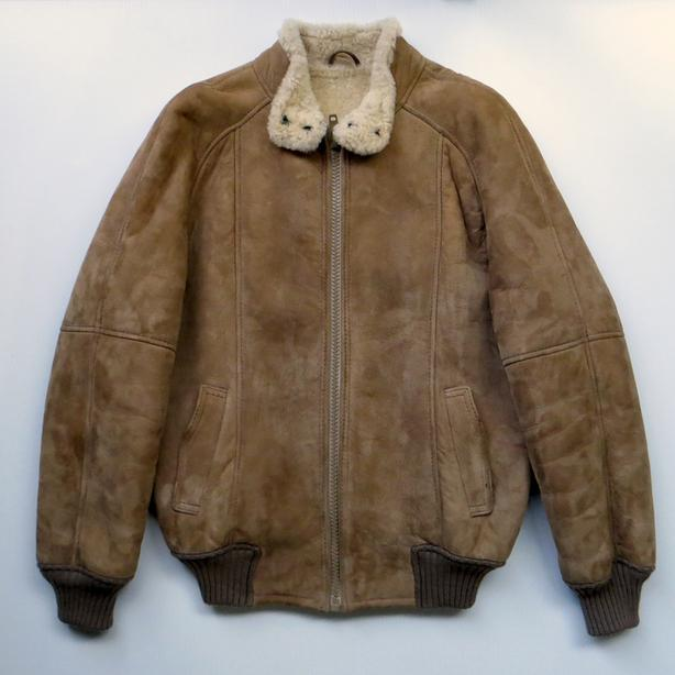 """New Zealand """"Bowron"""" Suede Shearling Lined Jacket"""