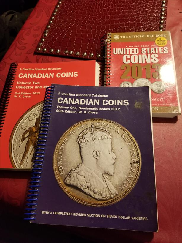 CANADIAN AND US COINS BOOKS