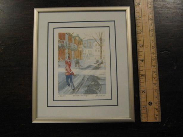 ``STREET HOCKEY`` FRAMED PRINT - $5