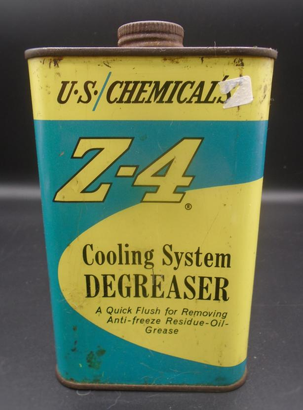 VINTAGE 1970's Z-4 COOLING SYSTEM DEGREASER PINT CAN