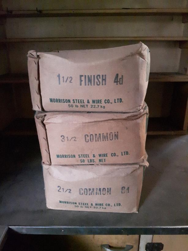 50lb. BOXES MORRISON NAILS