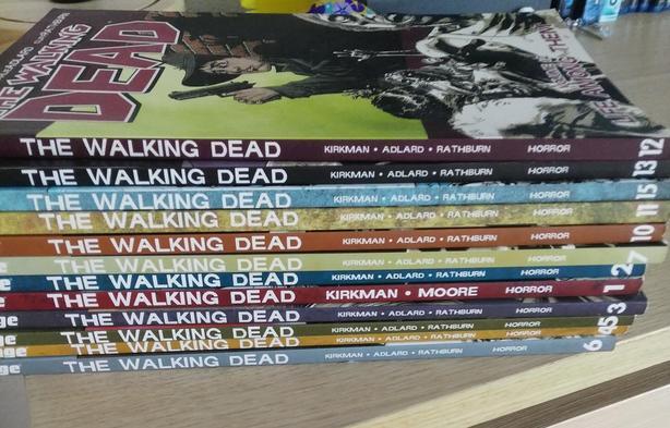 Walking Dead books 1,2,3,4,5,6,7,10,11,12,13,15