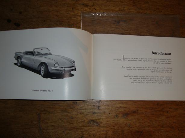 Original 1968 1973 Triumph Spitfire Mk3 Owners Manual Victoria City