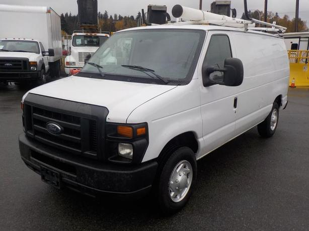 2012 Ford E-150 Cargo Van with Ladder Rack Rear Shelving