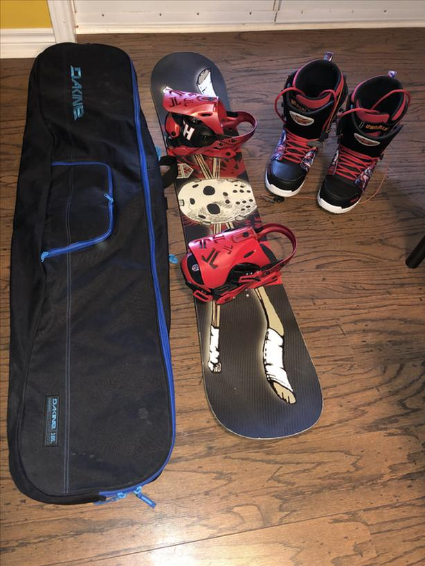 3 Snowboards 3 Sets of Boots & Bindings 1/2 prices listed