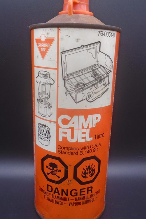 SCARCE 1970's VINTAGE CANADIAN TIRE CAMP FUEL LITRE TIN CAN