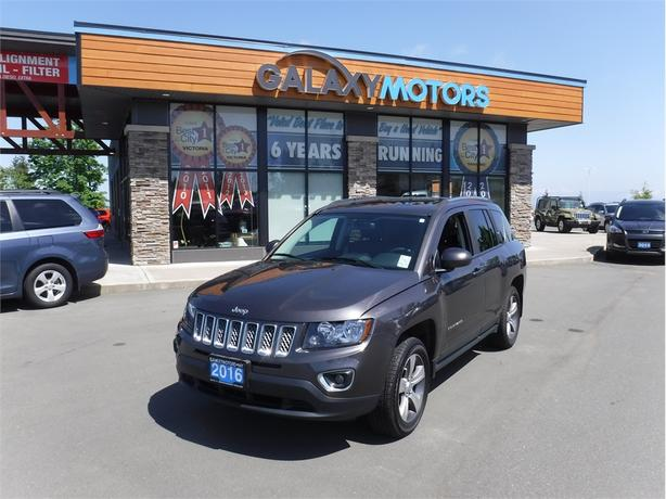 2016 Jeep Compass HIGH ALTITUDE- Back Up Cam, SAT Radio