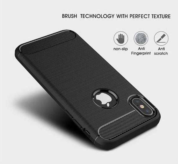 Brushed  Shockproof Carbon Fiber  Fashion TPU Case For iphone XR 6.1