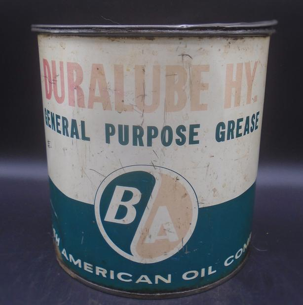 VINTAGE 1950's B/A DURALUBE HY GENERAL PURPOSE GREASE (5 LB) CAN