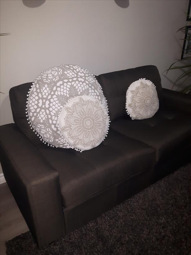 Modern Charcoal Grey Sofa