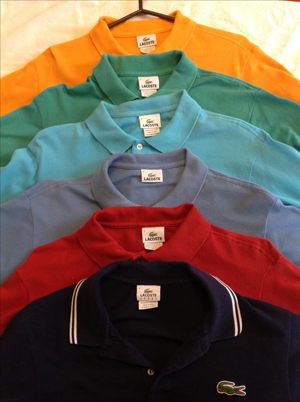 Men's Lacoste golf shirts