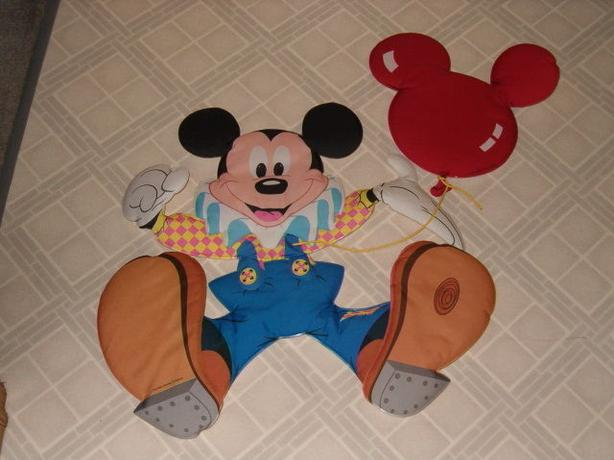 mickey mouse ,one larger dolly wall safe fabric decal