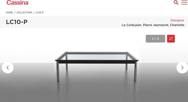 Iconic LeCorbusier L10 Coffee Table