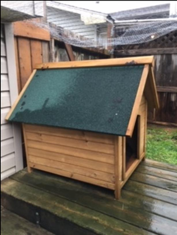 New large Cedar Dog house