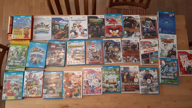 Multiples Wii and Wii U video games